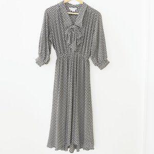 Vintage Argenti Silk Yin Yang Dress